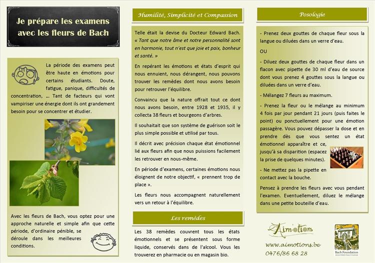 examens avec les fleurs de bach. Cliquez ici pour télécharger le  document en format pdf